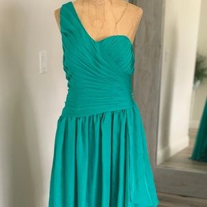 Turquoise high low dress